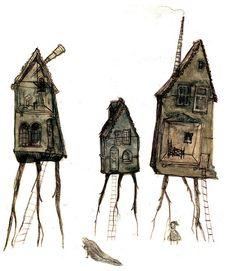 Spirit Houses by Oliver Hunter. LOVE !!