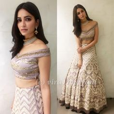 Kriti Kharbanda looks every bit regal in a 'Ekaam' creation at their store launch event in Indore! Indian Bridal Wear, Indian Wedding Outfits, Bridal Outfits, Indian Outfits, Indian Wear, Indian Engagement Outfit, Wedding Dress, Choli Designs, Lehenga Designs