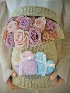 Gessi colorati rosa e azzurro, scented plaster