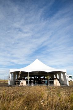 Simple outdoor wedding tent. Photo by: NC Photography | Two Bright Lights :: Blog