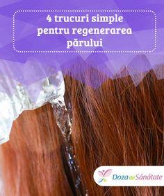 4 #trucuri simple pentru #regenerarea părului  Este posibil să îi redai #părului tău aspectul tânăr și sănătos? Bineînțeles! După cum știi, trecerea timpului afectează #regenerarea părului. Acesta își pierde treptat #strălucirea, devine mai fragil și lipsit de volum. Good To Know, Creme, Natural Hair Styles, Hair Beauty, Medicine, The Body, Cute Hair