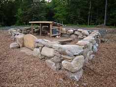 amazing stone pig pen. There is an old stone pig pen up at the ranch.