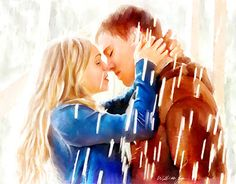 """Check out new work on my @Behance portfolio: """"Kissing in the Rain"""" http://be.net/gallery/52099091/Kissing-in-the-Rain"""