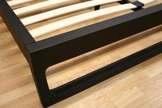 Bedroom Furniture :: Queen Size Beds :: Ceni Black Queen Modern Platform Bed - Bachelor Furniture: Bar Furniture, Dorm Furniture, Apartment Furniture