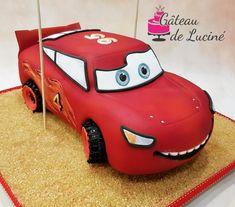 Lightning McQween 3D cake by Gâteau de Luciné