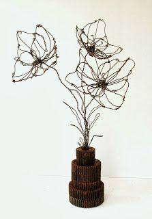 Sassytrash: Spring Designs ~ upcycling with salvage, found objects and wire (of course!)
