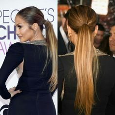 People's Choice Awards 2017: Jennifer Lopez Wore a Basic Hair Tie in Her Ponytail Because She's a Queen Get that look