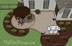 Simple Brick Patio With Circle Paver Kit | Patio Designs And Ideas