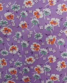 Full XL vintage feedsack fabric lavender floral never by oodles, $124.75