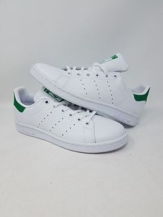 f3564ee013d3 ADIDAS STAN SMITH J M20605 WHITE GREEN ORIGINALS COMFORT KID S SIZE 5 NEW  WOB  fashion  clothing  shoes  accessories  kidsclothingshoesaccs   unisexshoes ...