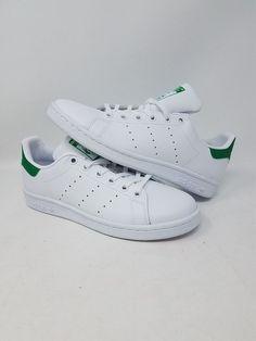 ADIDAS STAN SMITH J M20605 WHITE GREEN ORIGINALS COMFORT KID S SIZE 5 NEW  WOB  fashion 3d94db42d7d