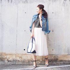 . 膝下丈のチュールスカートの使い勝手がよくて、今更ながらお気に入りです^ ^ レースアップサンダルは『SHIPS』で購入。 こちらもお気に入りです。 . #FashionLetter#SHIPS #UNIQLO#ユニクロ#uniqloginza #fashion#coordinate#outfit#ootd#JAPAN