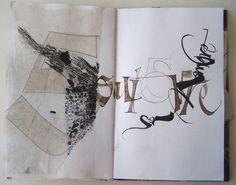 Élisabeth Couloigner, carnet détudes calligraphiques