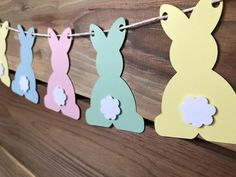 Easter Banner - Some Bunny Is One - Spring Bunny Butt Garland This bunny butt banner has me wishing for spring! Add this banner to your Some Bunny is One party or Easter decor. Or be like me, and just hang it up because it makes you smile! Easter Banner, Easter Garland, Easter Wreaths, Easter Centerpiece, Diy Garland, Easter Art, Easter Crafts For Kids, Easter Ideas, Easter Eggs