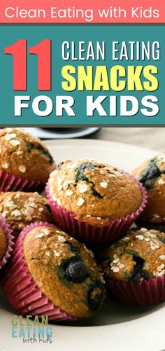Healthy Snacks For Kids Clean Eating and kids? Yes, you can get your kids eating more fruit and veggies. The trick is to make clean eating snacks that they will enjoy. Here are 11 Kid friendly clean eating snacks that will keep them coming back for more. Kids Cooking Recipes, Clean Eating Recipes, Kids Meals, Whole Food Recipes, Snack Recipes, Healthy Recipes, Cooking Games, Healthy Dinners, Clean Foods