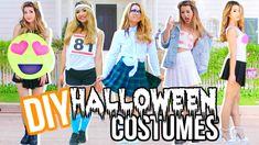 DIY Last Minute Halloween Costumes Costumes: Heart Smiley Face Emoji, Classic School Girl, Olympic Runner