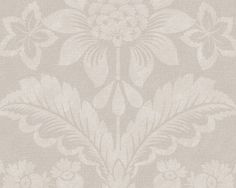Wallpaper Harriet, Gray.  Harriet Wallpaper is a medallion wallpaper linked to New England's European heritage and design tradition. Medallion patterns are among the most classic of designs and have been around as wallpaper since the first pioneers came to New England. Harriet is printed using an engraving technique that produces a textile feel, making the room cosy and homely.