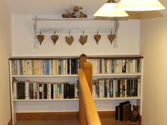 Use the landing area to store your books ..
