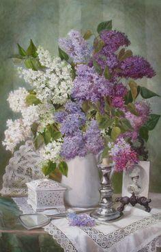 Viktoria Kiryanova (b.1977) — Flowering Lilacs so Gently and Nicely ... 2010  (650×1014)