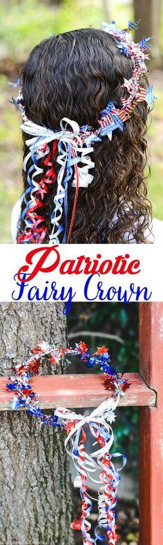 DIY Patriotic Fairy Crown
