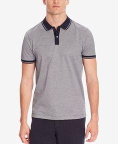 Boss Men's Slim-Fit Mercerized Cotton Polo Shirt - Blue XL