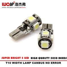 This is nice, check it out!   10 pcs/Lot Canbus T10 5SMD 5050 LED Car Light Canbus W5W 194 5050 SMD Error Free White WIDTH/NUMBER PLATE/DOOR Led Lamp - US $6.00 http://myreplacementpartsshop.com/products/10-pcslot-canbus-t10-5smd-5050-led-car-light-canbus-w5w-194-5050-smd-error-free-white-widthnumber-platedoor-led-lamp/