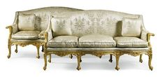 A pair of George III style giltwood settees one 19th century the other modern   lot   Sotheby's