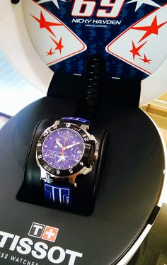 e4b47f647be Tissot T-Race Limited Edition Nicky Hayden 2014 blue dial blue rubber strap  complete with