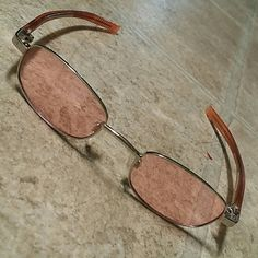 ESPRIT Sun Glasses Soft orange tinted ESPRIT sun glasses, just a fun look to have. . Own it for couple of years, but have never really worn it. . In a very good condition. . No box. . ESPRIT Accessories Sunglasses