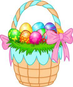 Easter Basket Clip Art Egg Cartoon Crafts Toys