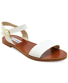 Steve Madden Donddi Flat Sandals - Sandals - Shoes - Macy's ... have these in tan and love them