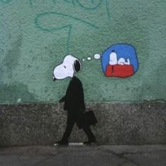 Snoopy all grown up.