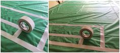 Easy soccer field table cover made with white electrical tape Bubble Soccer, Electrical Tape, Sports Party, Table Covers, Roller Coaster, Bubbles, Packing, Action, Game