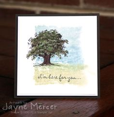 Lovely As A Tree by Jayne Mercer - Cards and Paper Crafts at Splitcoaststampers Stampin' Up! Leaf Cards, Ppr, Friendship Cards, Watercolor Cards, Watercolor Background, Get Well Cards, Card Sketches, Cute Cards, Pretty Cards