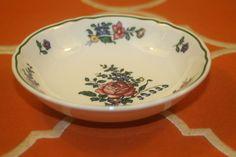 Villeroy Boch Alt Strassburg Fruit Dessert Bowls No 2 Green Trim Flower Set of 4  | eBay