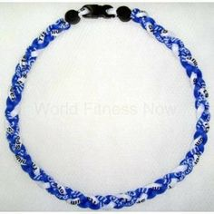 """Hurricane Power Titanium Necklace Energy Balance Blue/white 18"""" Hurricane. $14.95. These are soft and comfortable. Sporty clasp so you can wear it anywhere. impove performance and balance. Braided design for added style. Restores important ION balance"""