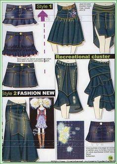 Jean skirt refashion ideas