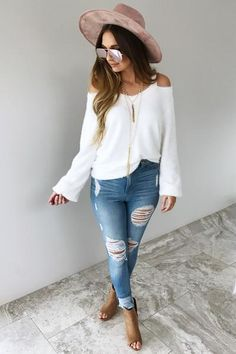 Oh So Soft Sweater: White