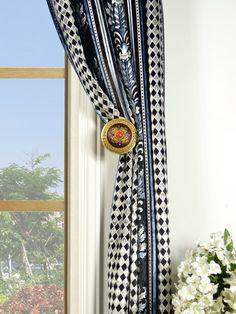 Maia Antique Damask Double Pinch Pleat Velvet Curtain Holdback Velvet Curtains, Damask, Antiques, Pattern, Decor, Antiquities, Antique, Decoration, Damascus