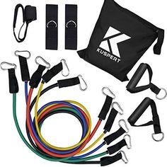 11 Pcs Resistance Band Set Home Gym Suspension Training Straps Workout Trainer #Kuspert