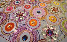 suzan drummen: kaleidoscopic crystal floor installation at the museum valkhof, netherlands in designboom Glass Installation, Dutch Artists, Rangoli Designs, Floor Design, Magazine Design, Amazing Art, Amazing Crafts, Art For Kids, Collages
