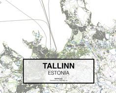 Tallin - Estonia. Download CAD Map city in dwg ready to use in Autocad. www.mapacad.com