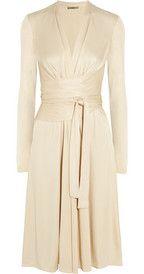 IssaWrap-effect silk-jersey dress