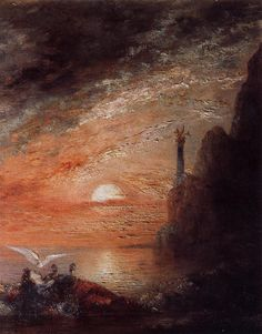 Gustave Moreau - The Death of Sappho  c.1873.  Art Experience NYC  www.artexperiencenyc.com/social_login/?utm_source=pinterest_medium=pins_content=pinterest_pins_campaign=pinterest_initial