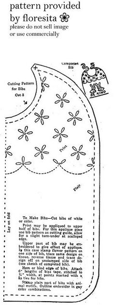 Mailorder 2-920 bib pattern by floresita's transfers, via Flickr