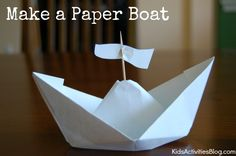 I love this How to make a paper boat as part of your Columbus Day activities for kids fun. Telling the story of Columbus is much more fun with a paper Make A Paper Boat, Make A Boat, Build Your Own Boat, Kindergarten Activities, Activities For Kids, Crafts For Kids, Preschool Ideas, Fall Crafts, History Activities