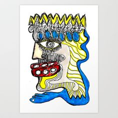 KING Art Print by ALOU - $12.48