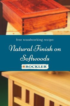 Learn to get a lustrous clear natural finish on softwoods like pine, Douglas Fir, cedar and others. Follow the clearly demonstrated step-by-step instructions for sure-fire success. Easy, fast and effective. Tap to download here! #CreateWithConfidence #natural #finish #softwoods #finishrecipe