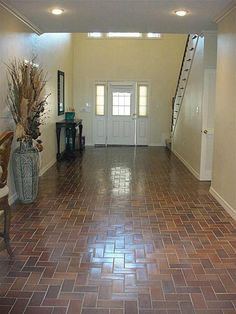 brick floors :)