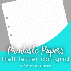 Printable dot grid paper for A5 & half letter by rebelluxdesigns